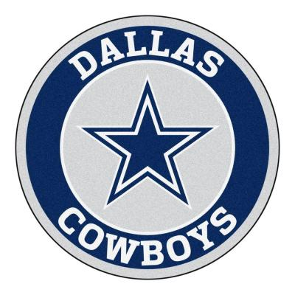 NFL Dallas Cowboys Navy 2 ft. Round Area Rug
