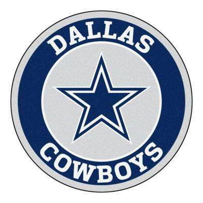 NFL Dallas Cowboys Navy 2 ft. Round Area Rug
