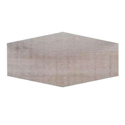 Oakwood Lily 9.5 in. x 19.25 in. x 8.5 mm Porcelain Hexagon Floor and Wall Tile (12.15 sq. ft. / case)
