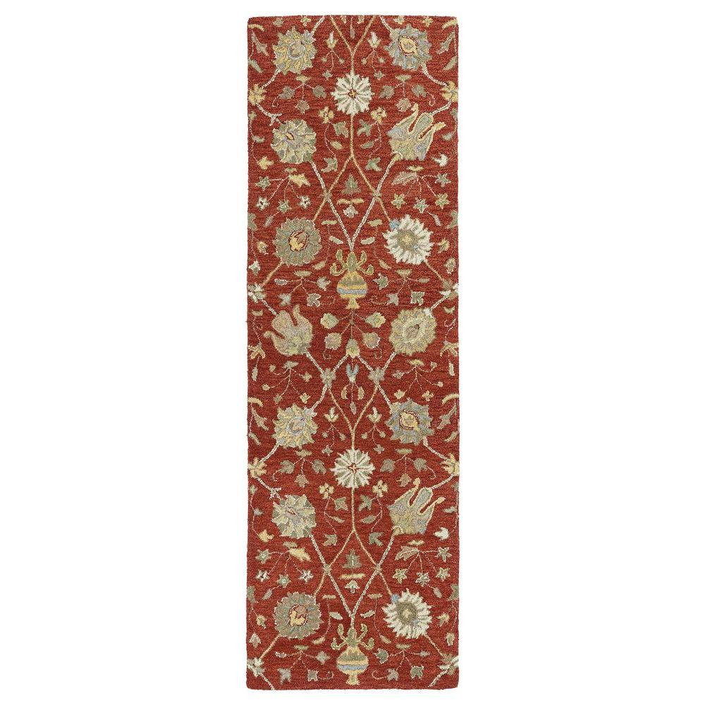 Kaleen Helena Aphrodite Red 2 ft. 6 in. x 8 ft. Runner