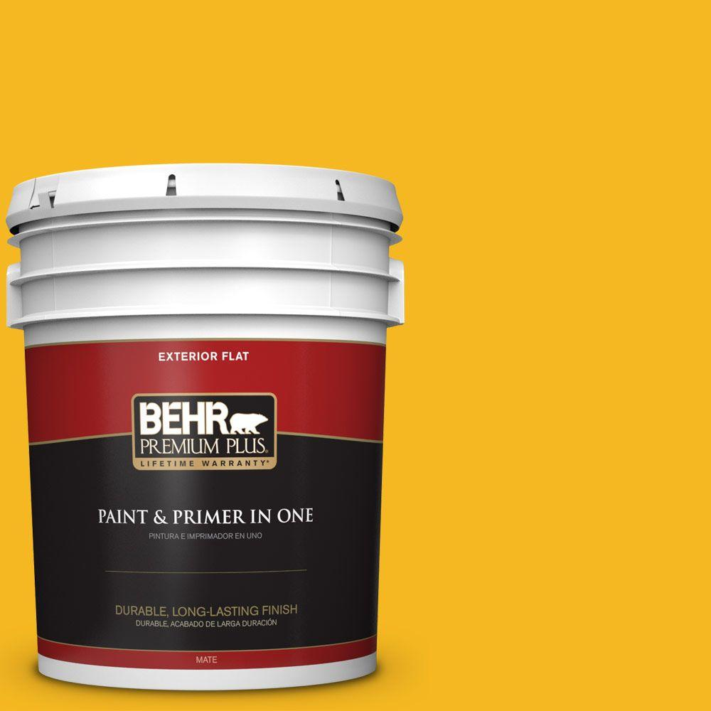5 gal. #HDC-MD-02A Yellow Groove Flat Exterior Paint