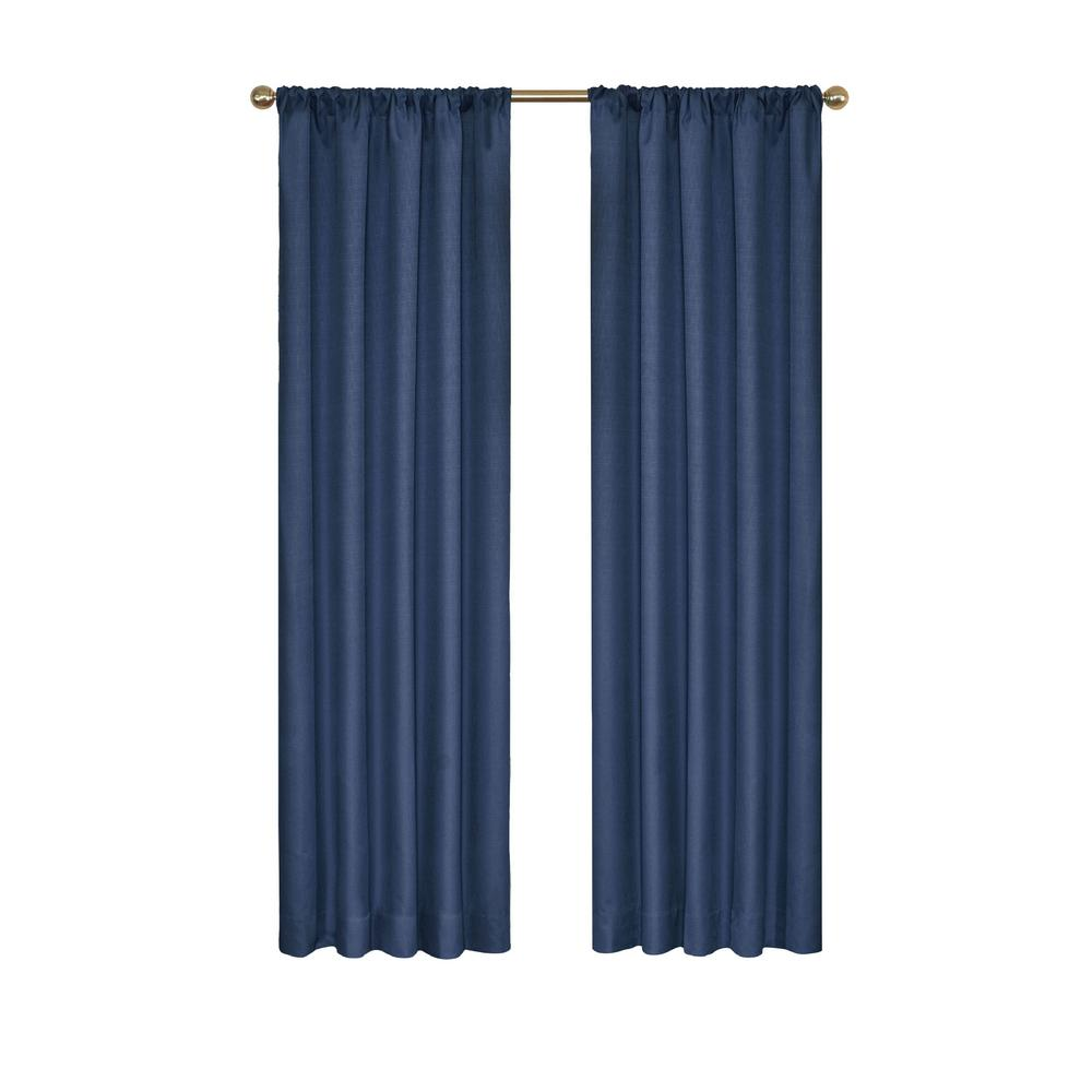 Eclipse Kendall Blackout Window Curtain Panel In Denim