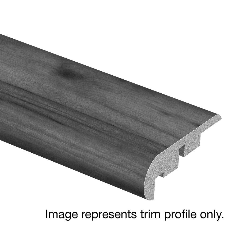 Zamma Morning Snowdust 3/4 in. Thick x 2-1/8 in. Wide x 94 in. Length Laminate Stair Nose Molding, Light