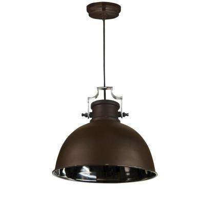 Nautilus 1-Light Antique Bronze and Nickel Pendant