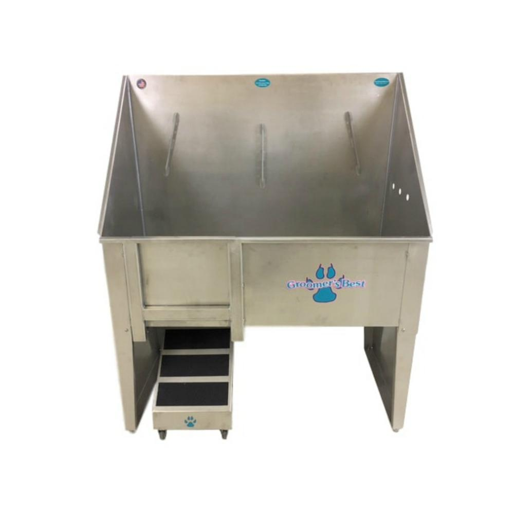 Groomeru0027s Best. Walk Through 48 In. X 24 In. X 58 In. Stainless Steel  Grooming Tub/Utility Sink Right Drain