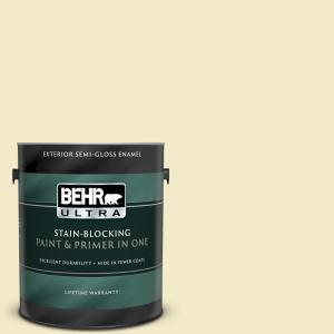Behr Marquee 1 Gal P350 2 May Apple Semi Gloss Enamel Exterior Paint And Primer In One 545001 The Home Depot