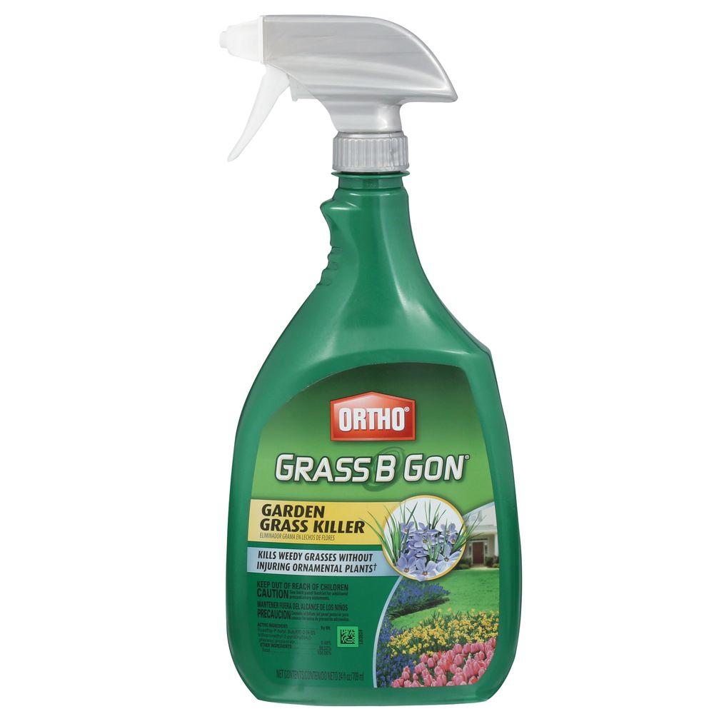 Spraying weeds in flower beds - Ortho Grass B Gon 24 Oz Ready To Use Garden Grass Killer 0438580 The Home Depot