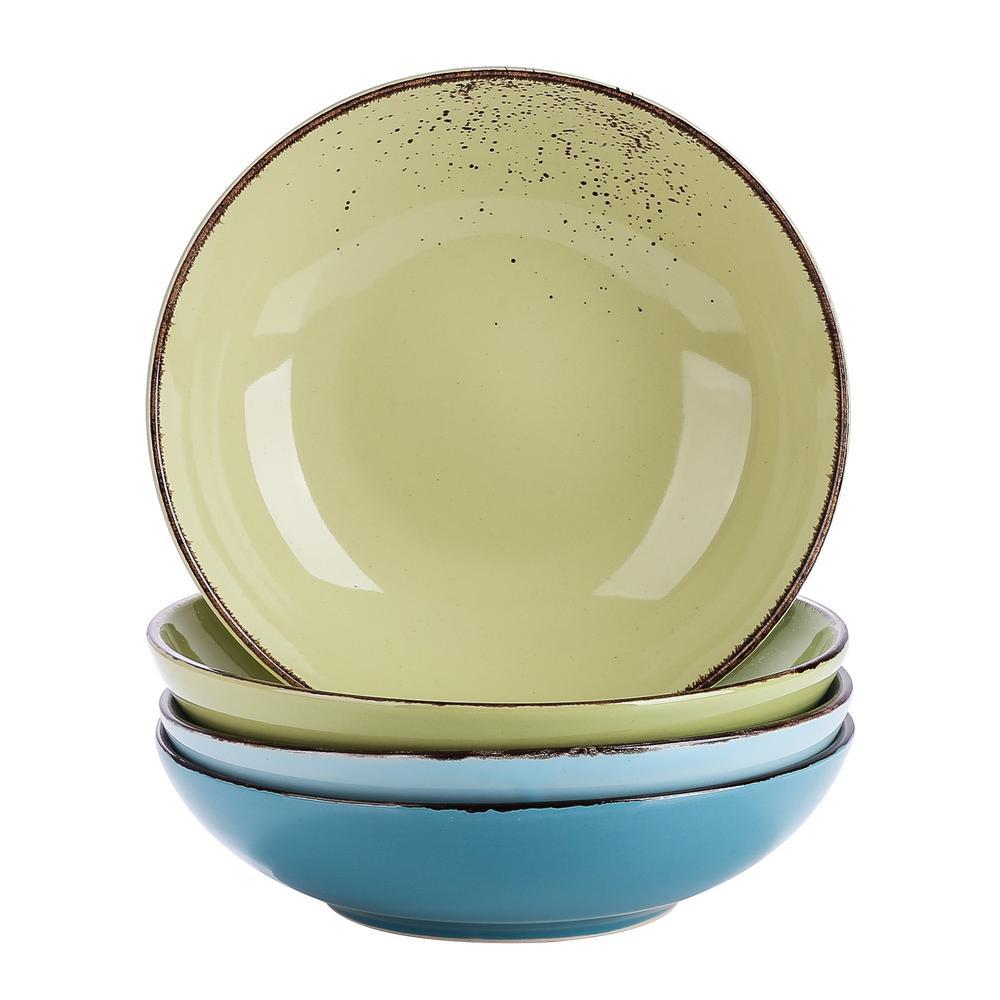 vancasso 4-Piece Assorted Colors Ceramic Dinnerware Set Soup