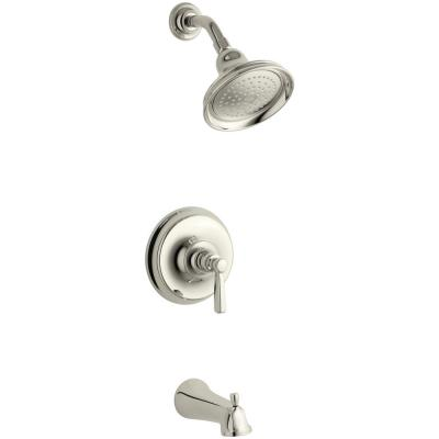 Bancroft 1-Handle 1-Spray 2.5 GPM Tub and Shower Faucet in Vibrant Polished Nickel (Valve Not Included)