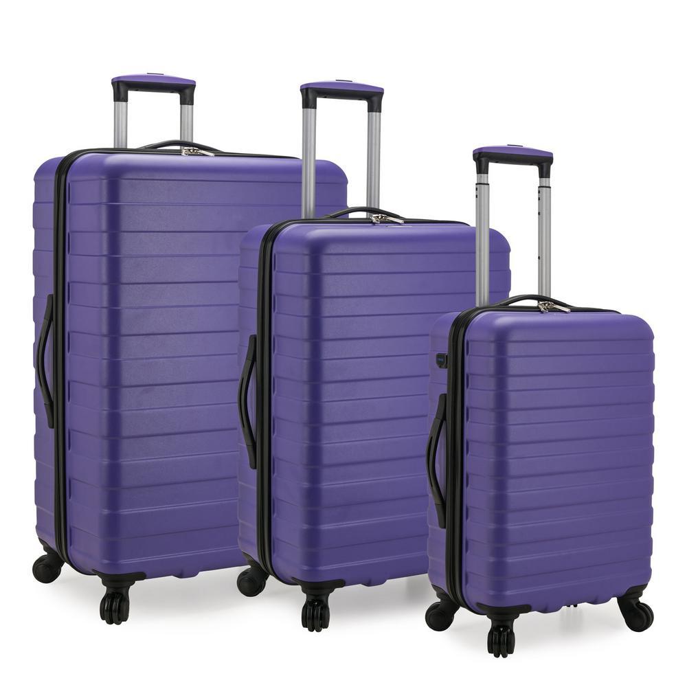 Bondi 3-Piece Violet Spinner Luggage with Smart USB Port