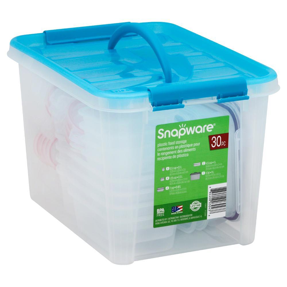 30 Piece Plastic Storage Container Set