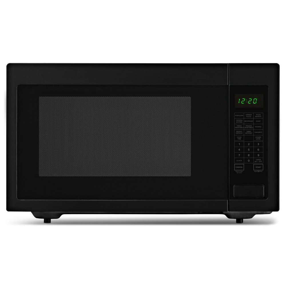 2.2 cu. ft. Countertop Microwave in Black with Add: 30 Seconds