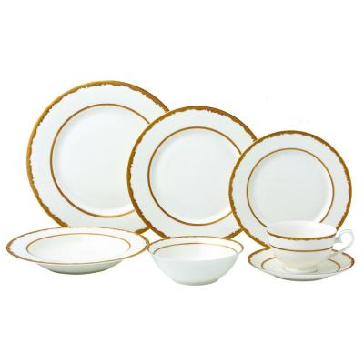 73be8970818d0 Lorren Home Trends 24-Piece Silver Porcelain Dinnerware Service for ...