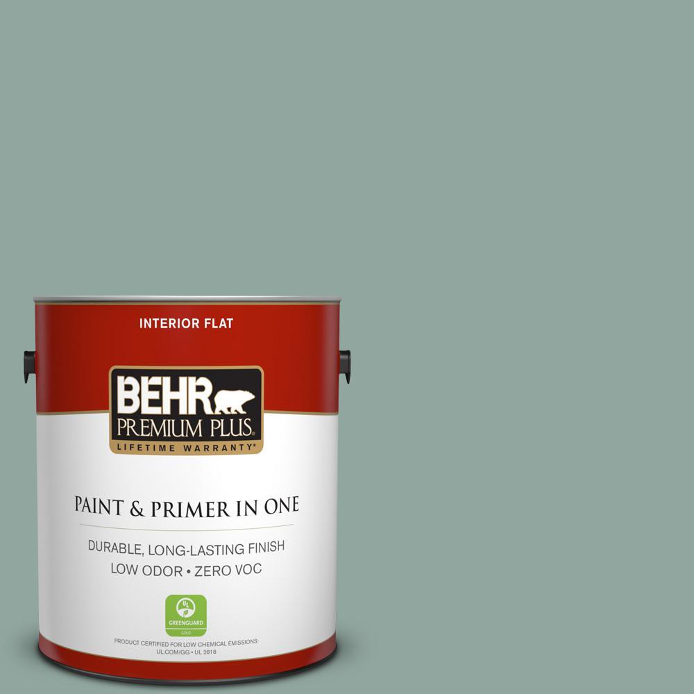 1 gal. #PPU12-05 Lotus Leaf Zero VOC Flat Interior Paint