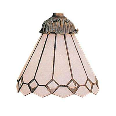 Mix-N-Match 1-Light White Tiffany Glass Shade
