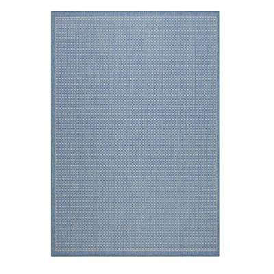 Saddlestitch Blue/Champagne 5 ft. x 8 ft. Area Rug