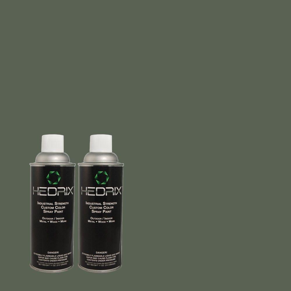 Hedrix 11 oz. Match of 5C7-3 Sea Tempest Flat Custom Spray Paint (2-Pack)