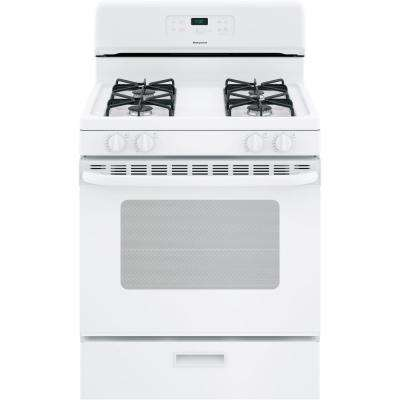Hotpoint 30 in. 4.8 cu. ft. Gas Range Oven in White
