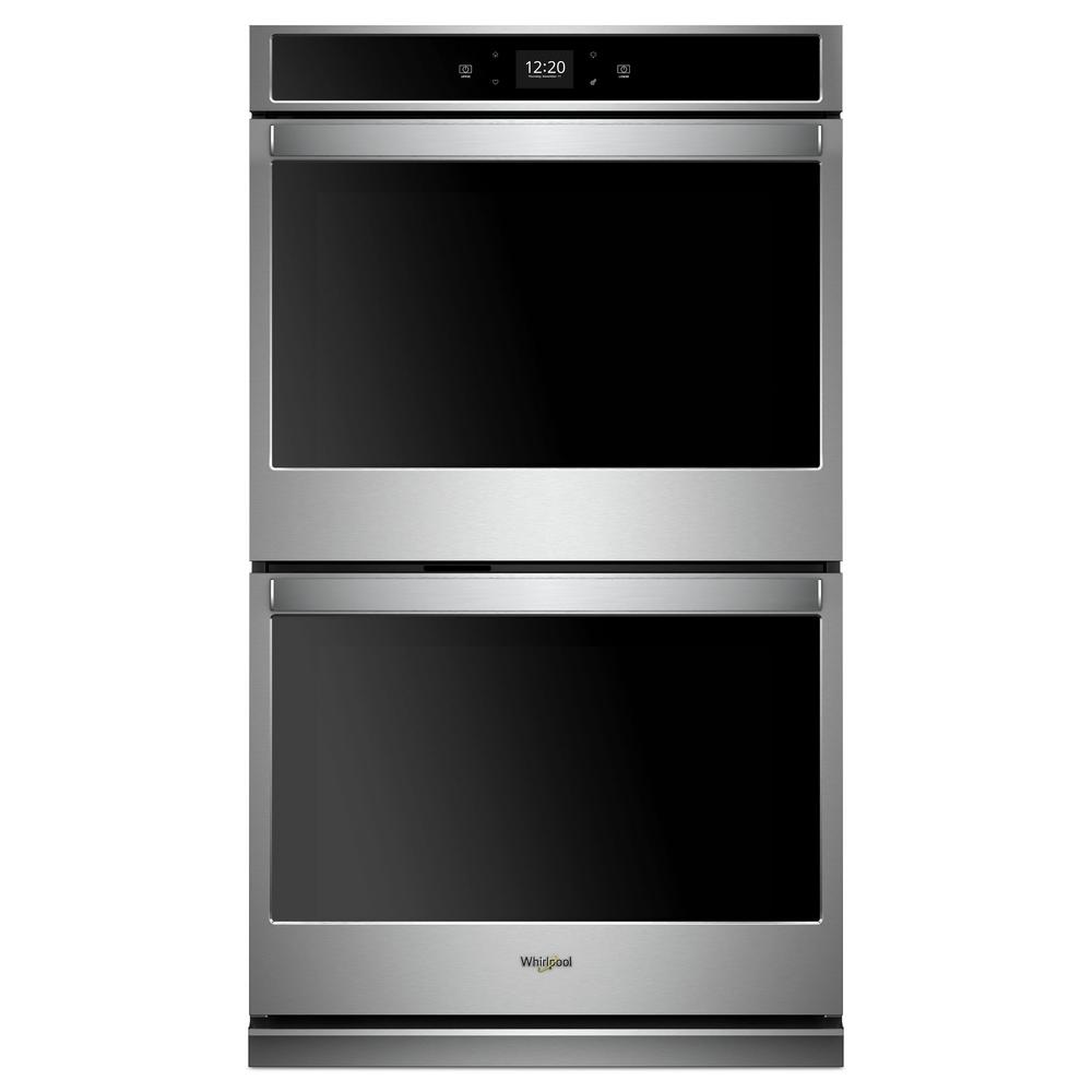Whirlpool 30 in. Smart Double Electric Wall Oven with Touchscreen in Stainless Steel