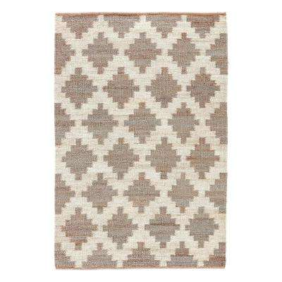 Natural Wild Dove 8 ft. x 10 ft. Tribal Area Rug