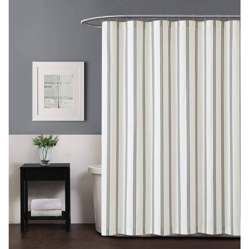 Millenial Stripe 72 in. Shower Curtain