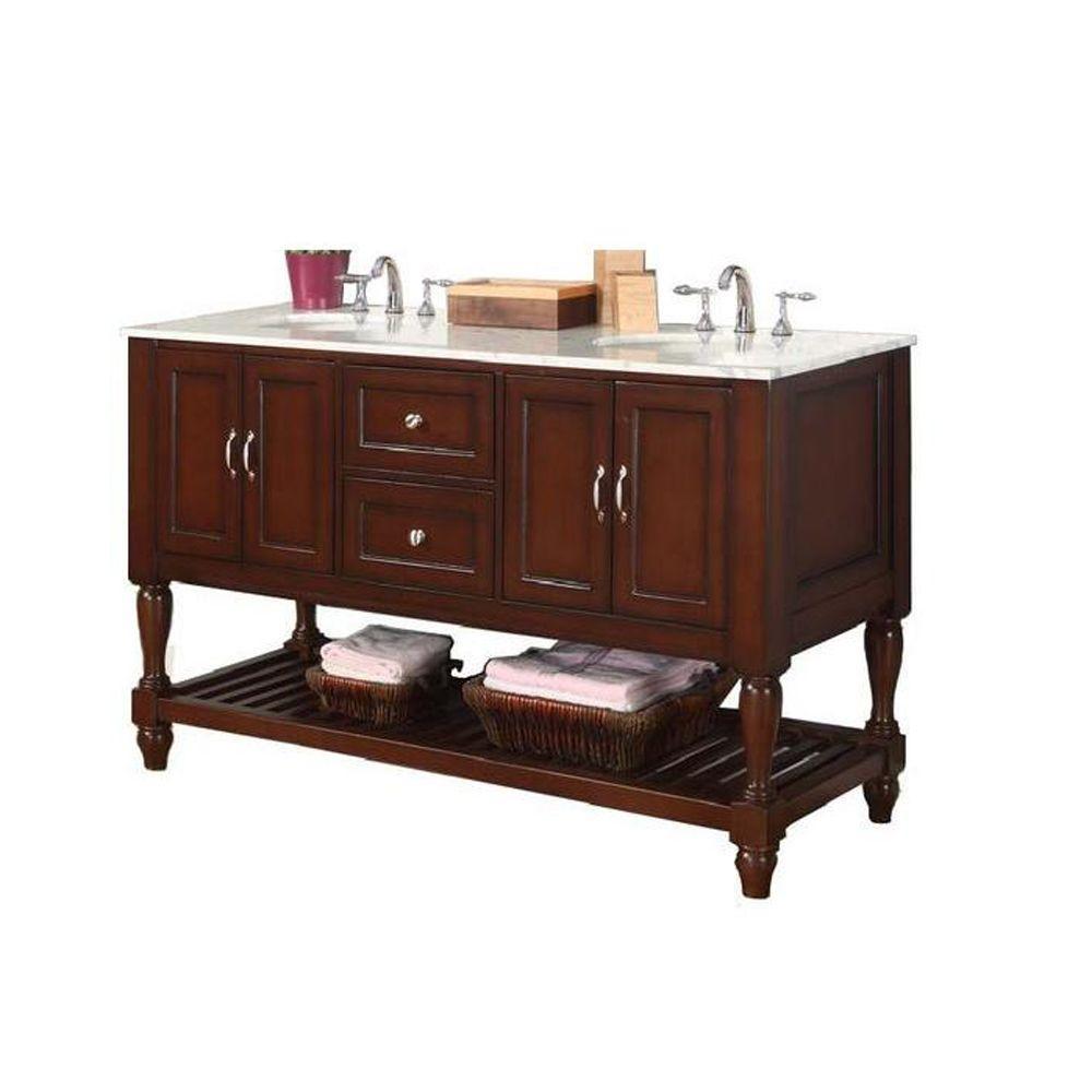 Direct Vanity Sink Mission Turnleg 60 In Double Vanity In
