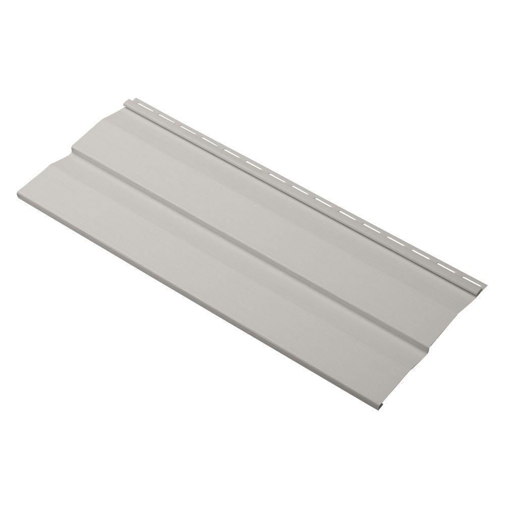 Cellwood Progressions Double 4.5 in. x 24 in. Dutch Lap Vinyl Siding Sample in Pewter
