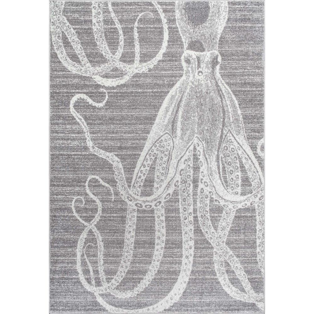 Nuloom Thomas Paul Octopus Grey 5 Ft X 8 Ft Area Rug