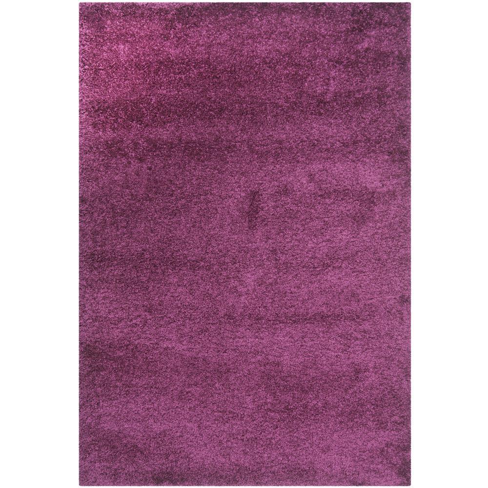California Shag Purple 8 ft. x 10 ft. Area Rug