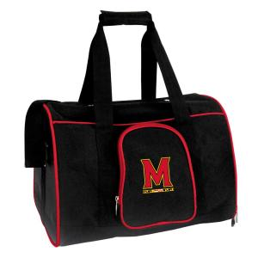 NCAA Maryland Terrapins Pet Carrier Premium 16 in. Bag in Red