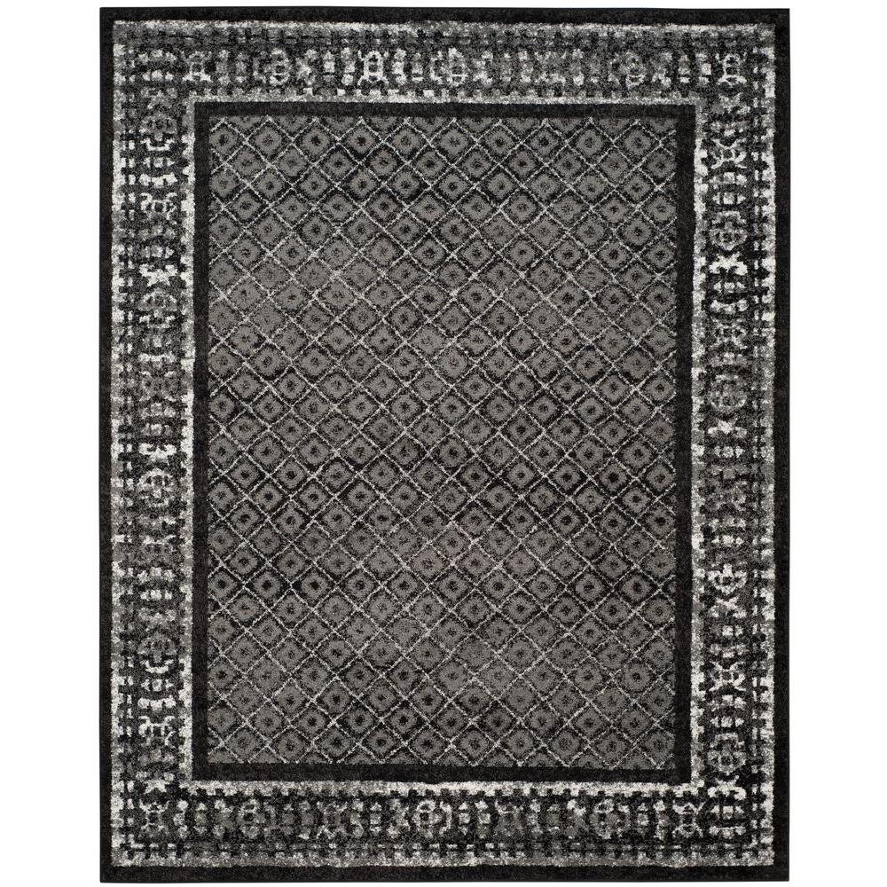 Safavieh Adirondack Black Silver 9 Ft X 12 Ft Area Rug Adr110a 9