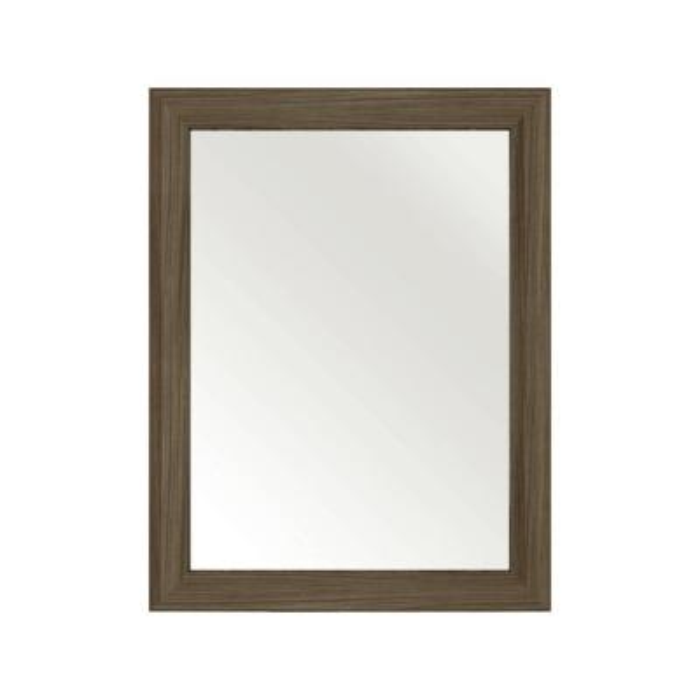30 in. L x 23 in. W Framed Wall Mirror in Driftwood