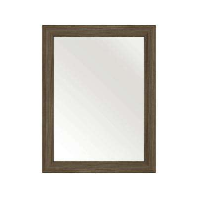 30 in. L x 23 in. W Framed Wall Mirror in Driftwood