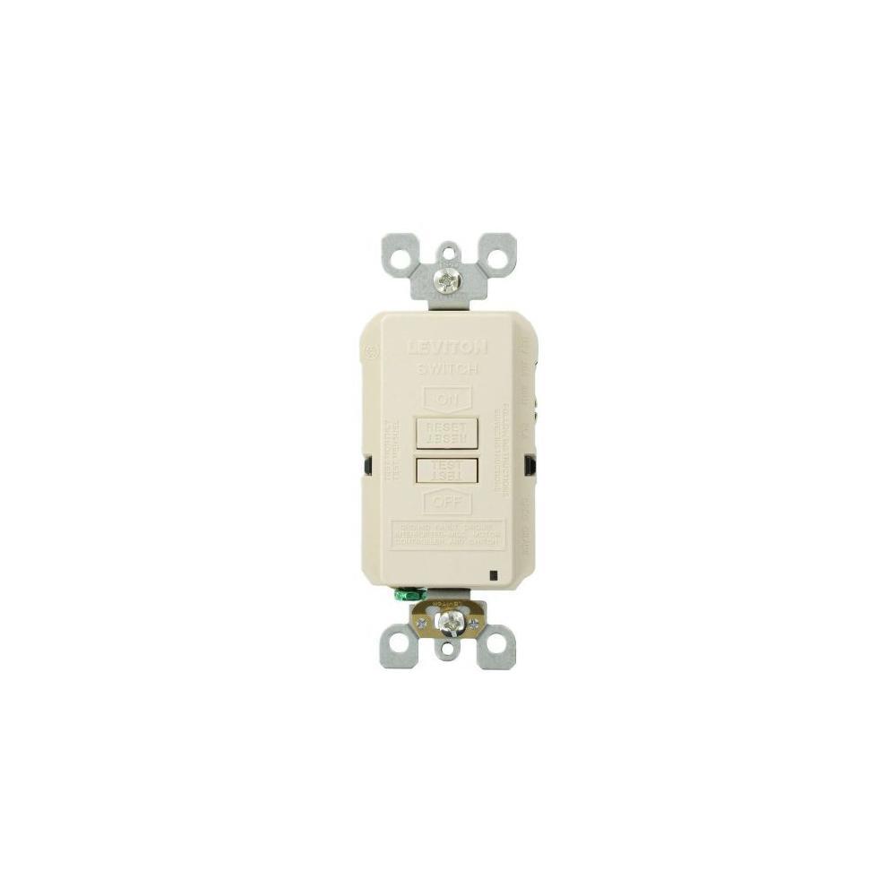 Leviton 20 Amp SmartlockPro Blank Face GFCI Outlet, Light Almond on