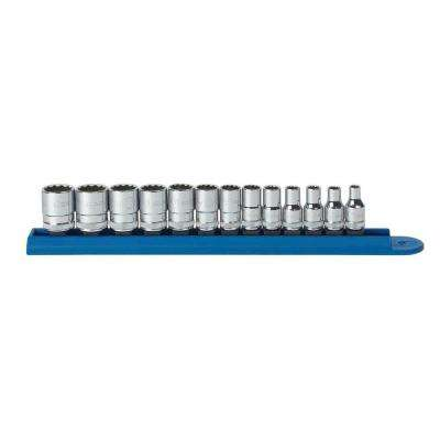 1/4 in. Drive Metric 12-Point Standard Socket Set (13-Piece)