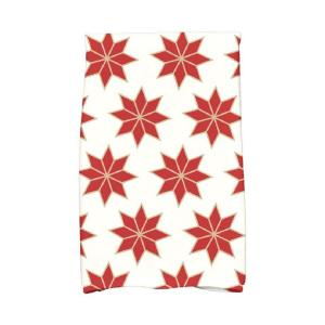 Click here to buy  16 inch x 25 inch Red Christmas Stars-2 Holiday Geometric Print Kitchen Towel.