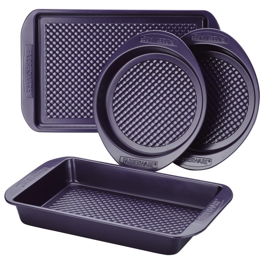 4-Piece Colorvive Nonstick Bakeware Set in Purple