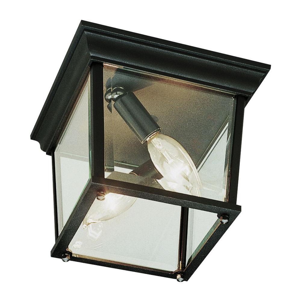Bel Air Lighting Stewart 2-Light Outdoor Rust Incandescent Ceiling Light