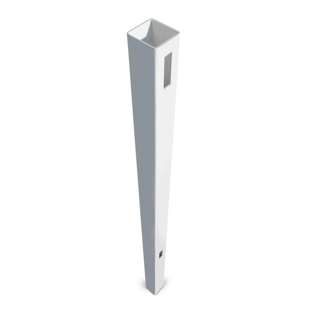 Veranda Pro Series 5 in. x 5 in. x 8-1/2 ft. White Vinyl Woodbridge Arched Heavy Duty Routed End Fence Post