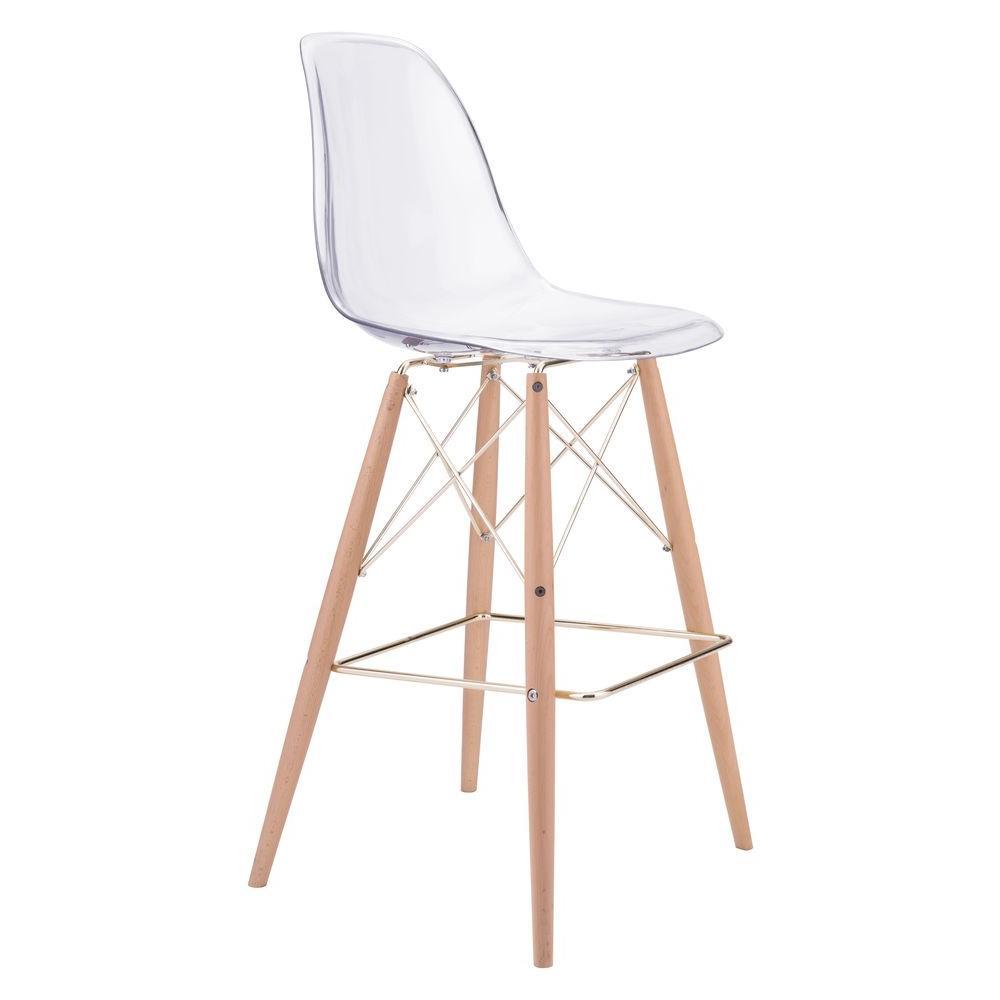 internet zuo shadow 295 in clear bar stool