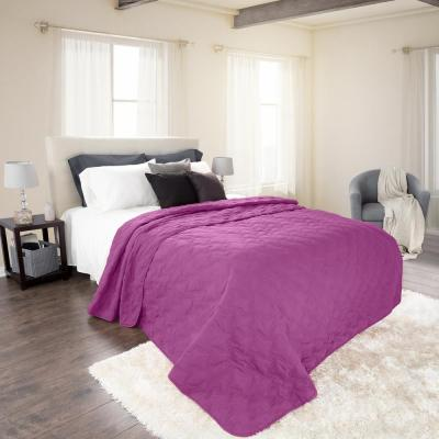Classic Purple Polyester Full and Queen Quilt