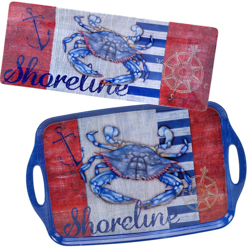 2-Piece Maritime Crab Platter Set by