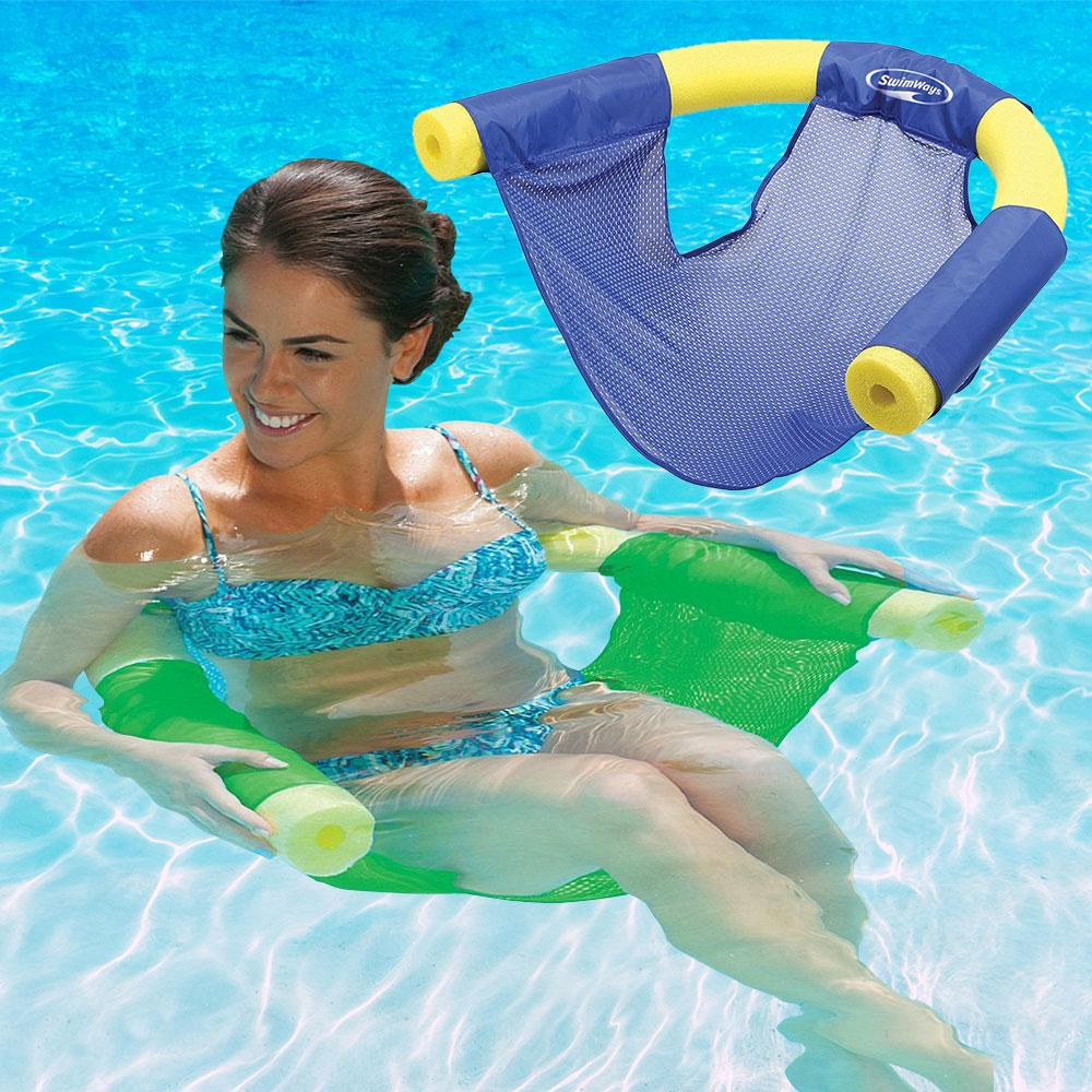 SwimWays Blue and Green Noodle Sling Pool Floats Combo Pack