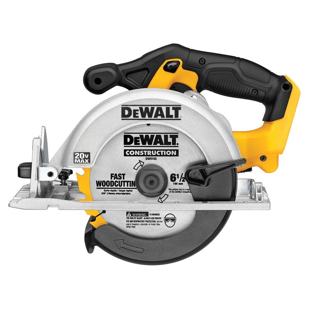 DEWALT 20-Volt Max Lithium-Ion 6-1/2 in. Cordless Circular Saw (Tool-Only)