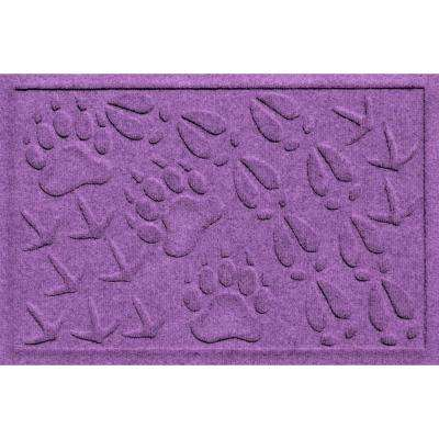 Aqua Shield Animal Tracks Purple 17.5 in. x 26.5 in. Pet Mat