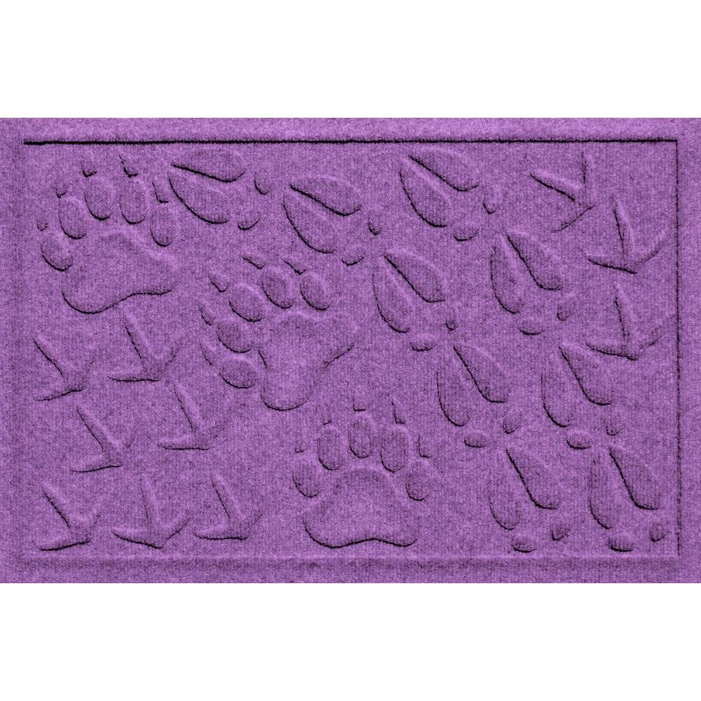 Aqua Shield Animal Tracks Purple 17.5 in. x 26.5 in. Pet Mat