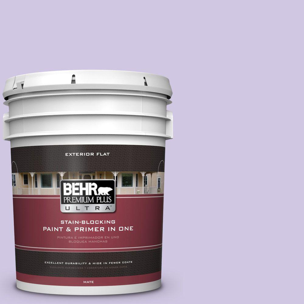 BEHR Premium Plus Ultra 5-gal. #650C-3 Light Mulberry Flat Exterior Paint