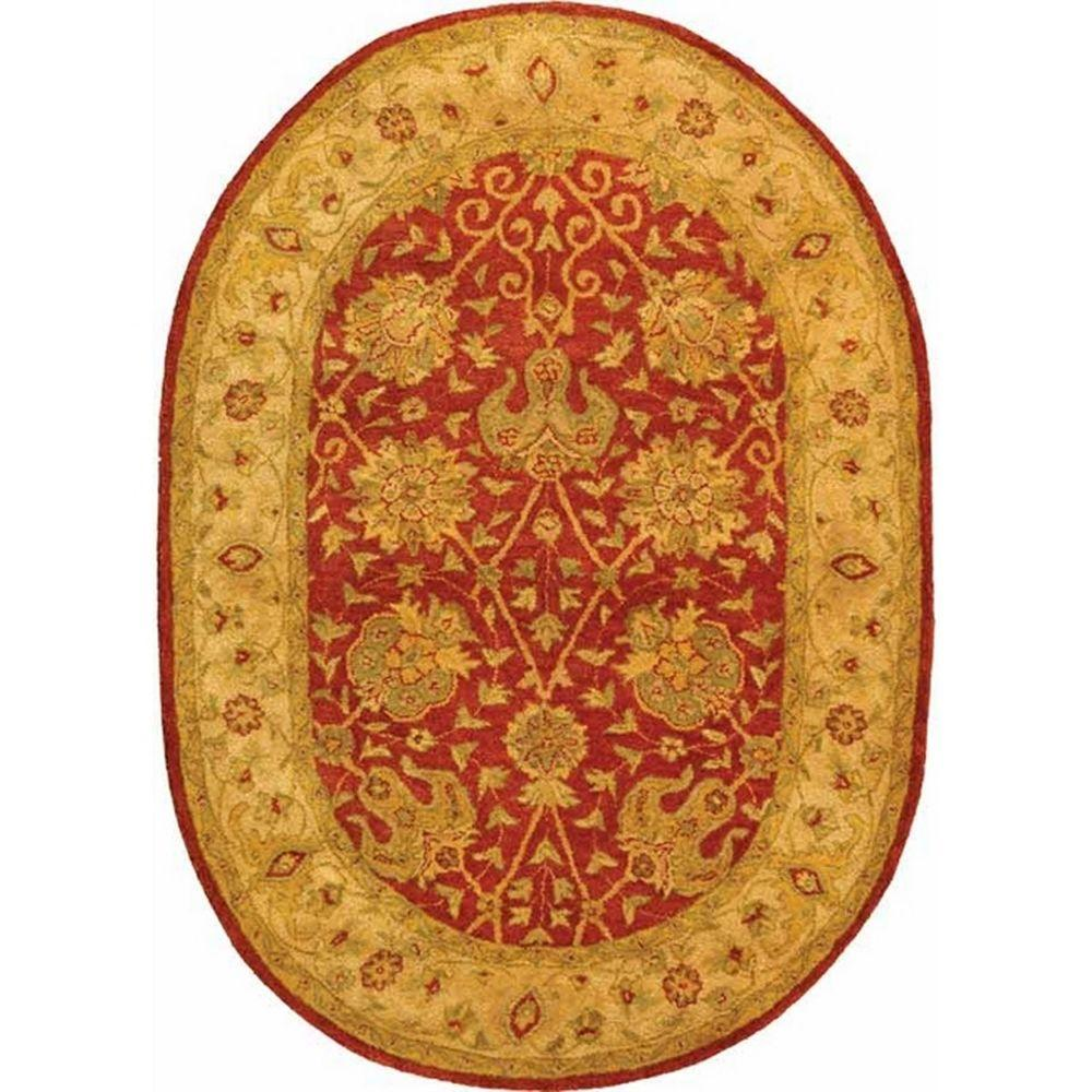 Large Oval Area Rugs: Safavieh Antiquity Rust 5 Ft. X 7 Ft. Oval Area Rug-AT21A