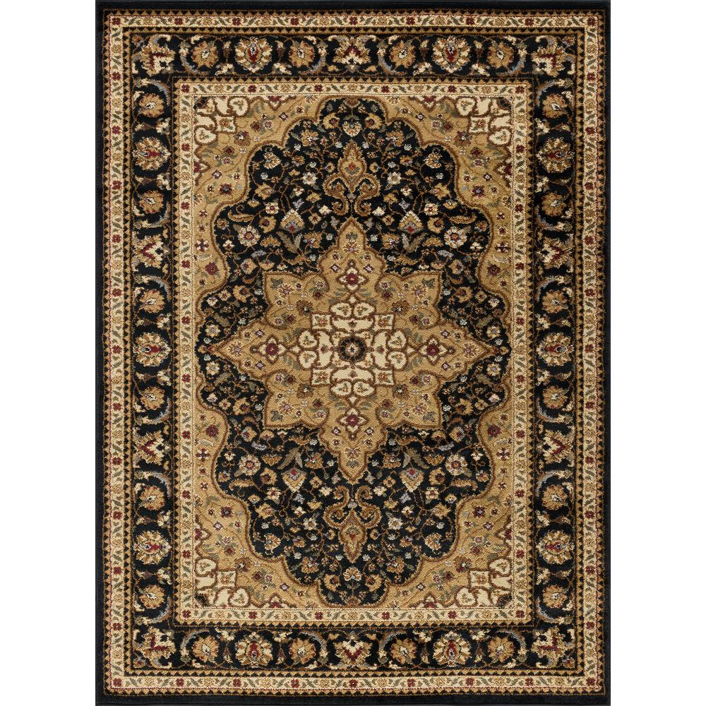 Tayse Rugs Elegance Black 9 Ft X 13 Ft Traditional Area