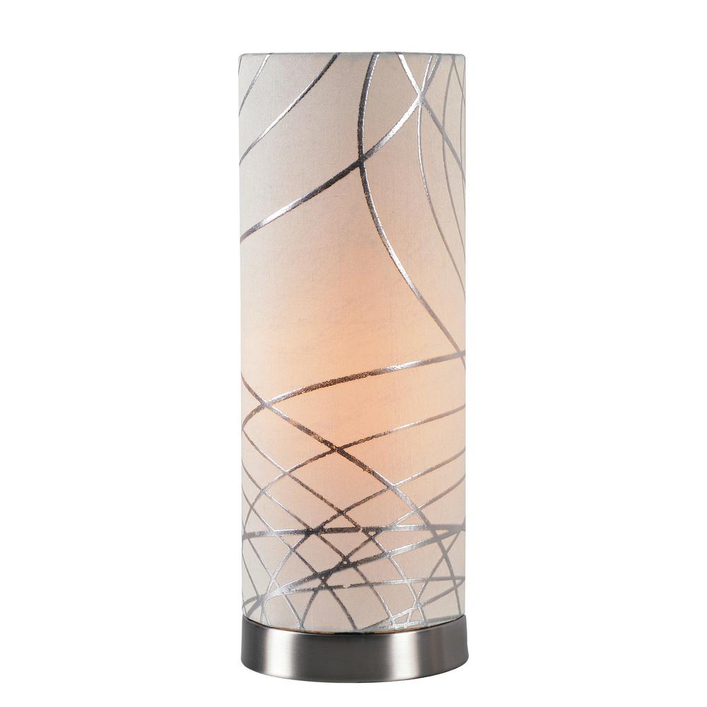 Steel Accent Lamp With White Shade